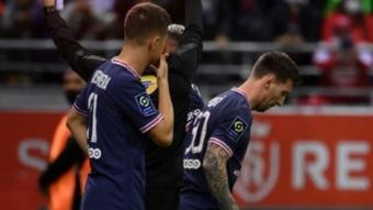 La blague d'Ander Herrera sur l'entrée en jeu de Leo Messi. AFP