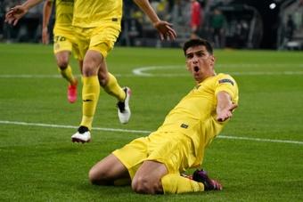 Gerard Moreno élu meilleur joueur de Ligue Europa 2020-2021. afp