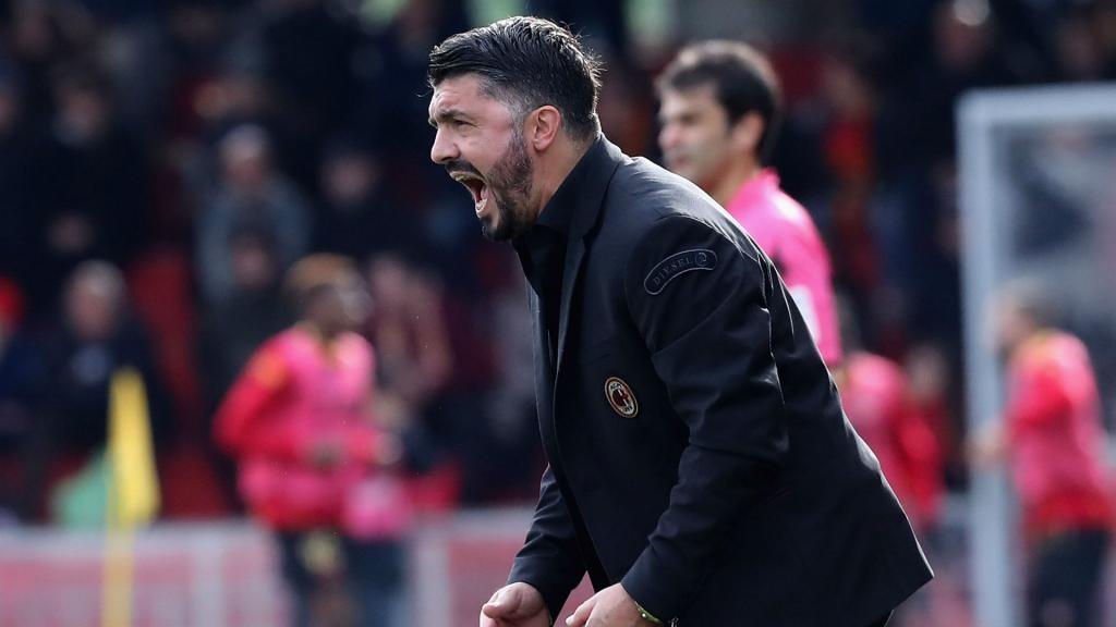 Prendre ce but casquette, Gattuso n'a pas aimé — Milan AC