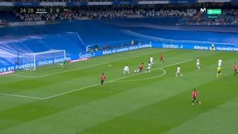 Kang-In Lee respondió rápidamente al segundo del Madrid. Captura/MovistarLaLiga