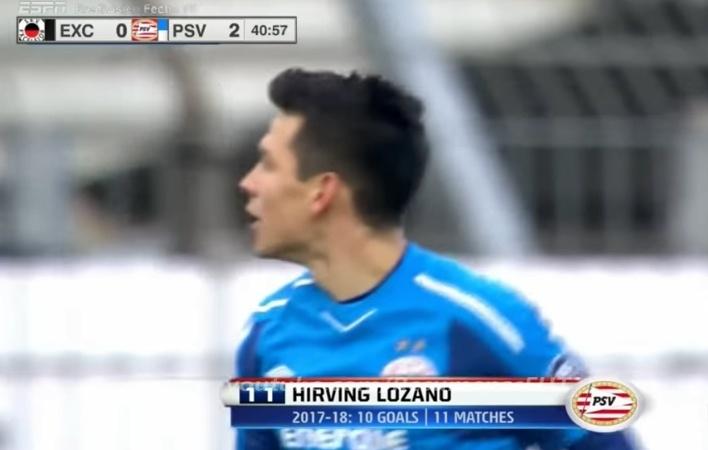 Gol del 'Chucky' le da el triunfo al PSV ante el Excelsior