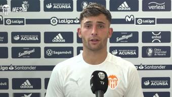 Hugo Duro não se arrepende de sua decisão. Captura/Youtube/ValenciaCF