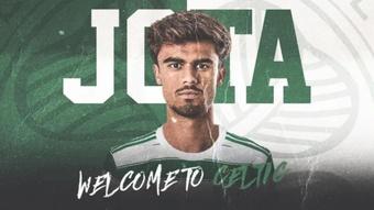 Jota, do Benfica, jogará com as cores do eterno rival. CelticCF
