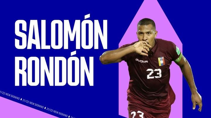 Rondón vuelve a la Premier. EvertonFC