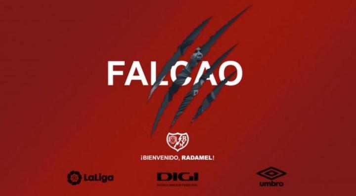 Falcão assina pelo Rayo Vallecano.RayoVallecano