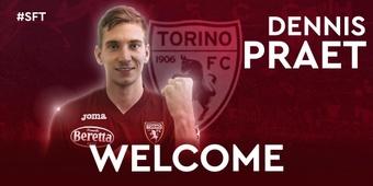 Officiel : Dennis Praet est de retour en Italie. Twitter/TorinoFC_1906