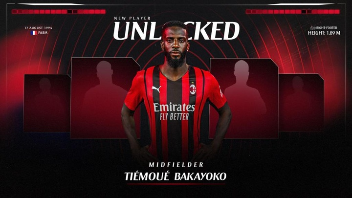 Bakayoko has joined AC Milan on loan for two years. Twitter/acmilan