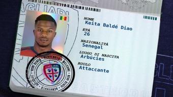 Keita Baldé, nuevo jugador del Cagliari. Twitter/CagliariCalcio
