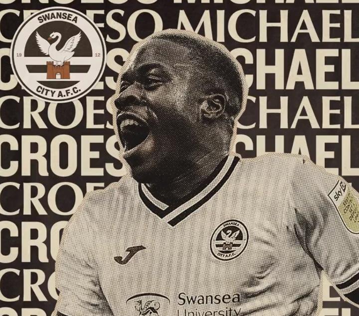 Obafemi e Ntcham, os dois novos reforços do Swansea. Twitter/SwansOfficial