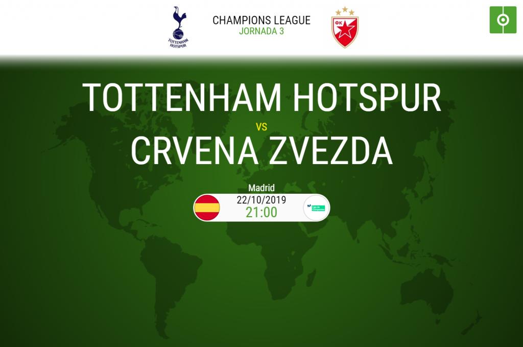 Tottenham y Estrella Roja miden sus fuerzas en la jornada 3 de la Champions League