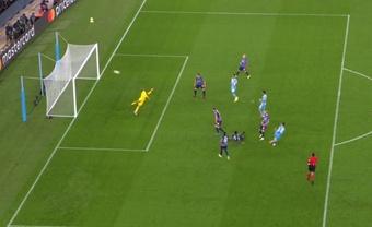 Manchester City won in a 9-goal thriller. Screenshot/movistarligadecampeones