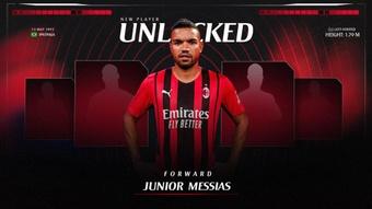 Junior Messias chega emprestado ao Milan. ACMilan