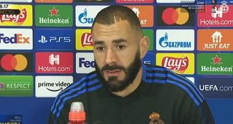 Benzema : Nous sommes une équipe très forte. Captura/RealMadridTV