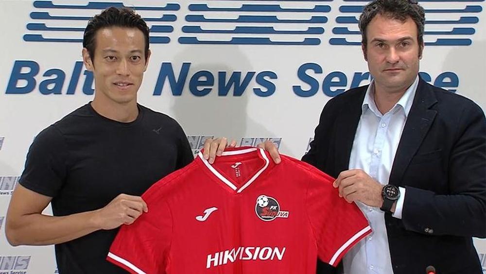 Honda jugará en Lituania. FKSuduva