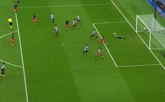 Lemar scored Atletico's second goal in the 99th minute. Screenshot/MovistarLaLiga