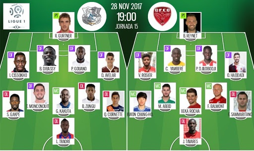 Pin	 Les compos officielles du match de Ligue 1 entre Amiens et Dijon. Be Soccer							Whatsapp			Twitter			Facebook			Commentaires 0