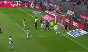 Lewandowski marcó de nuevo. Captura/#Vamos
