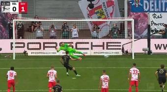 Lewandowski volvió a marcar. Captura/ESPN