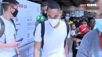 Matheus Cunha já está em Madrid.Captura/GOL