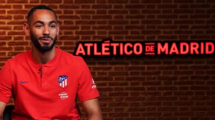 Matheus Cunha se declaró hincha del Atlético desde niño. Captura/Atleti
