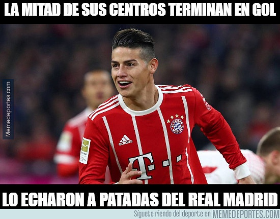 Así extrañan a James en Madrid luego de la Champions League