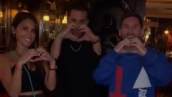 Messi dans un restaurant parisien. Capture d'écran/Instagram/cesar.restaurant
