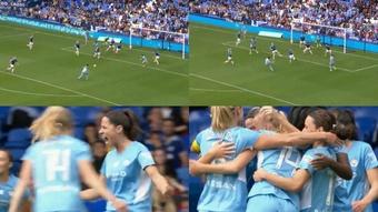 La ex capitana azulgrana marcó el primer gol del campeonato. Twitter/BarclaysFAWSL