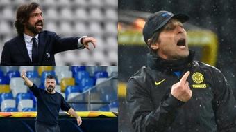 Dez treinadores que estão sem equipe. Montaje/AFP