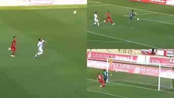 Concatenación de errores en el primer gol de la historia de Primera RFEF