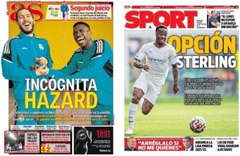 As capas da imprensa de 18 de setembro de 2021. AS/Sport