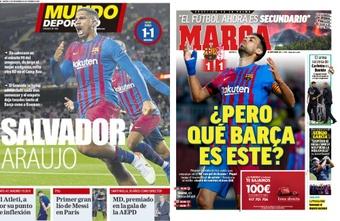As capas da imprensa esportiva. MundoDeportivo/Marca