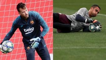 Barça poderia pensar em uma troca Neto-Asenjo. AFP/EFE