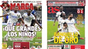 Capas da imprensa desportiva 16 de setembro de 2021.Marca/AS