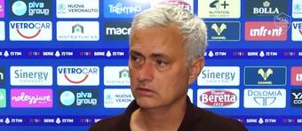 Mourinho sofreu a sua primeira derrota como treinador da Roma. Captura/OfficialASRoma