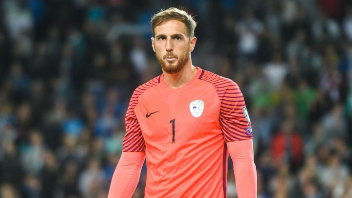 Oblak wants to play the World Cup with his national team. AFP