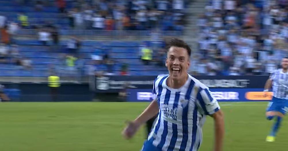 Paulino fue el autor de los dos goles de la victoria ante el Girona. Captura/LaLiga