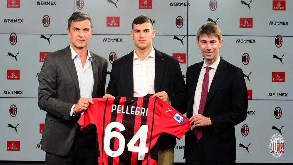 Pietro Pellegri è un nuovo giocatore del Milan. ACMilan