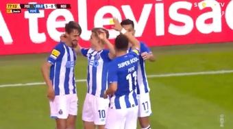 Pepe fue el encargado de cerrar la goleada del Oporto ante el Moreirense. Captura/VSSports