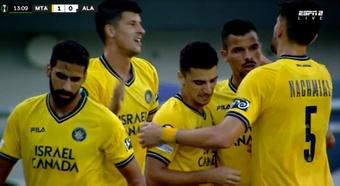 Un ex del Chelsea marcó el primer gol de la historia de la Conference League. Captura/ESPN2