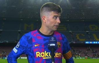 Piqué habló tras el Barça-Bayern. Captura/MovistarLigadeCampeones