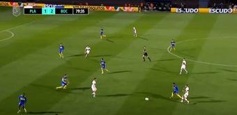 Platense y Boca Juniors se enfrentaron en la octava jornada de Liga. Captura/Fanatiz