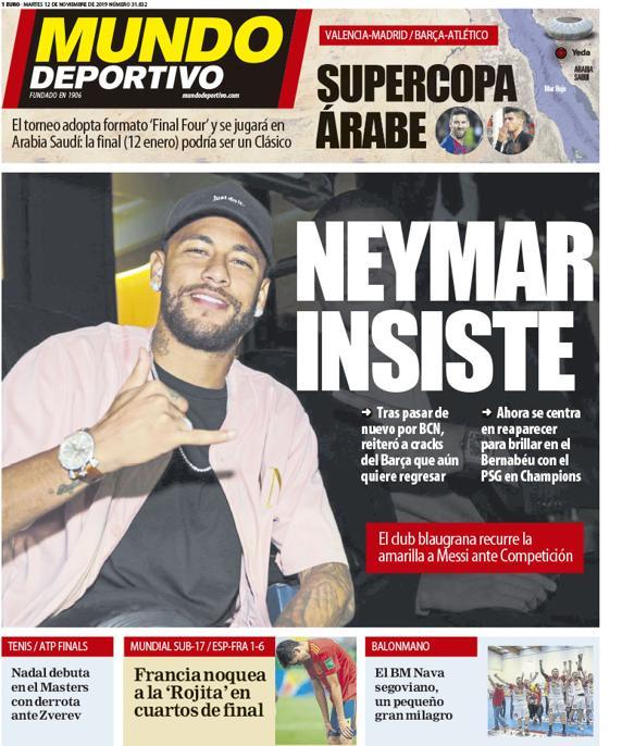 Neymar (PSG) souhaiterait toujours revenir au FC Barcelone