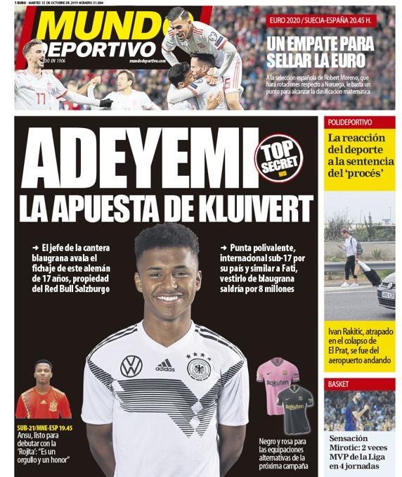 Adeyemi, la perla más deseada por el Barça