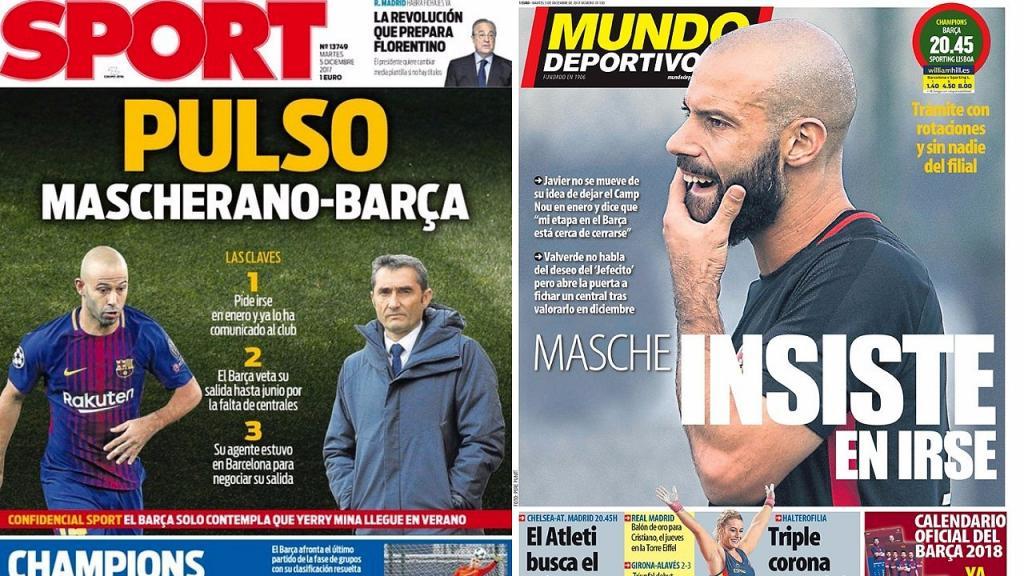 El Barcelona pide a Mascherano que haga pública su postura