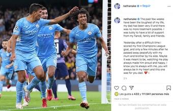 Nathan Aké falou da morte de seu pai. Captura/Instagram/nathanake
