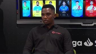 Samuel Eto'o escolheu três jogadores que queria em seu time. Captura/LaLiga