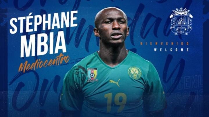 Stéphane Mbia jugará una temporada en el Fuenlabrada. Captura/fuenla
