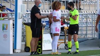 Vicky López debutó en la Liga Iberdrola con 15 años. Twitter/MadridCFF
