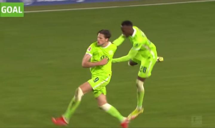 Weghorst marcó el gol del empate. Captura/MovistarLigadeCampeones