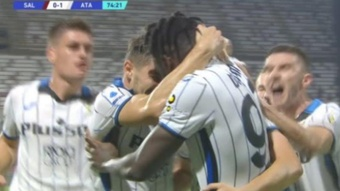 Zapata marcó el único gol del partido. Captura/ESPN